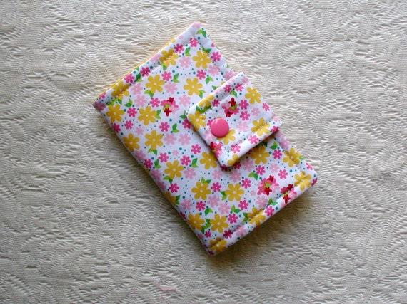 Tea Wallet ...Flower Toss in Yellow