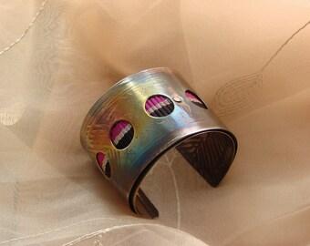 Metropolitan Ladys Cuff Bracelet  hand made copper waving