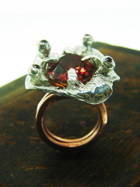 Atlantis Flower Ring sterling silver  jewelry art ring