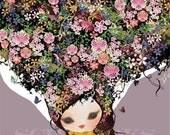 Childrens Room Art Floral Print - 'Secret Garden'