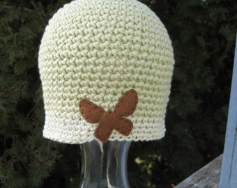 SALE Crocheted Hat for a Child 3-6  Mo. 268/09