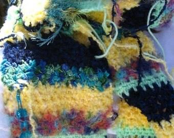 SALE Multicolor Crocheted Scarf  14/09/S