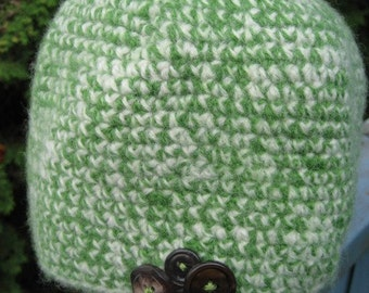 Crocheted Felted Hat for a Child 4T/5T 61/09