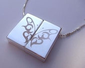 Butterfly Necklace Wish-Prayer Locket Engraved-Freedom pendant-Personalization Option