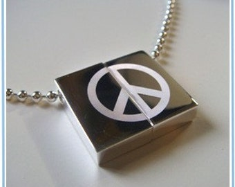 Wish Locket - PEACE necklace-pendant-Personalization Option-Peace on earth.