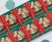 Vintage Christmas Seals 1950 Vintage Paper Ephemera Choir of Angels