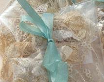 Vintage Lace Trim Goodie Bag Grab Bag Charming Vintage Lace