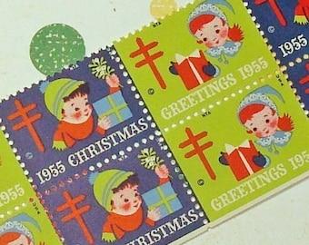 Vintage Christmas Seals 1955 Vintage Seals Vintage Paper Ephemera
