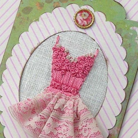 Vintage Inspired Dress Decoration Sign Plaque Tag Pink Tutu