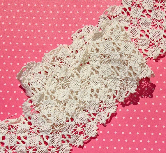 Vintage Lace Trim Cotton Drawnwork Lace