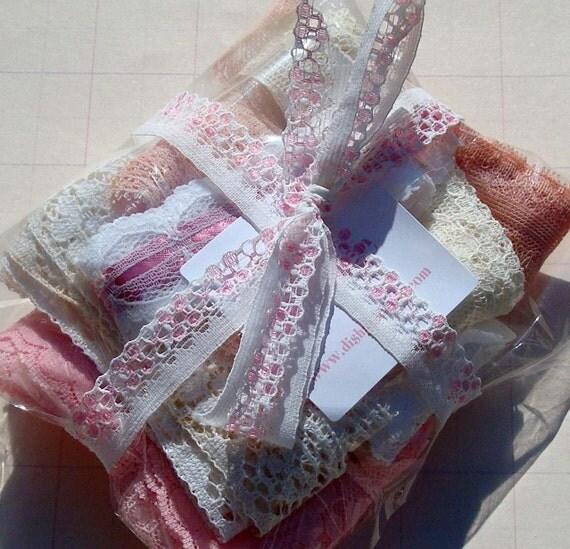 Vintage Lace Trim Lace Kit Goodie Bag 12 Yards Valentines