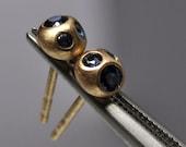 blue sapphire earrings- 18k gold
