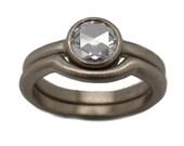 Build a rose cut diamond engagement ring - rose cut diamond