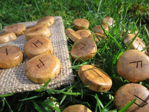 Handcarved Wood Runes