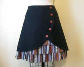Black As Night ruffle front skirt Sz 6