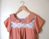 Peaches and Cream lace and silk top Sz S