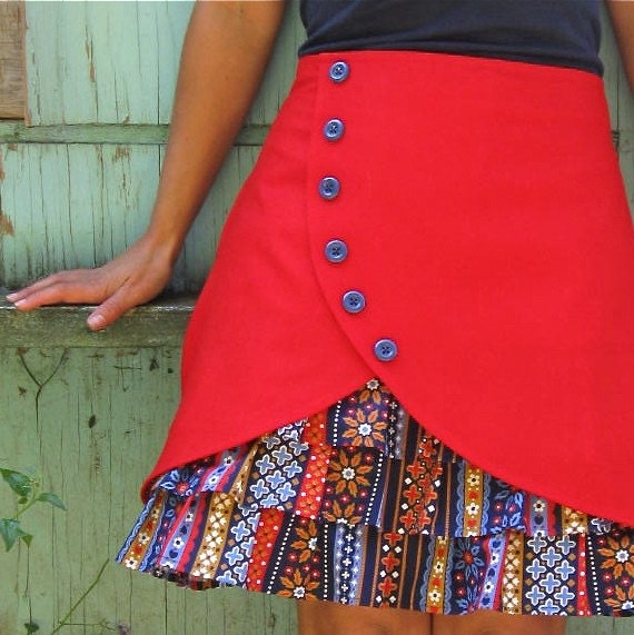 Gretel ruffle front skirt