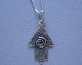 Whimsical Hamsa Necklace (Sterling Silver)