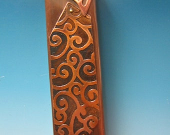 Mezuzah case with Life Spirals