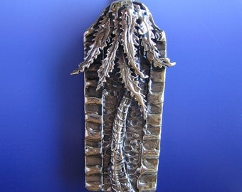 Jerusalem Palm Mezuzah (Bronze)