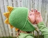 Dragon Mohawk Hat Boy Girl Green Yellow Spring