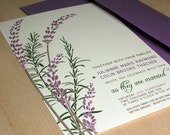 Lavendar and Rosemary Wedding Invitations, Buy this Deposit to Get Started