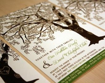 Grandfather Oak Tree Wedding Invitations, Sample, Customized