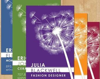 100 Dandelion Calling Cards, Pick Your Color