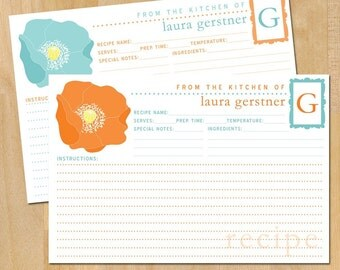 Printable Personalized Poppy Recipe Card