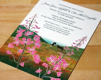 NEW SAMPLE: Wildflowers in the Hills, Customizable Colors