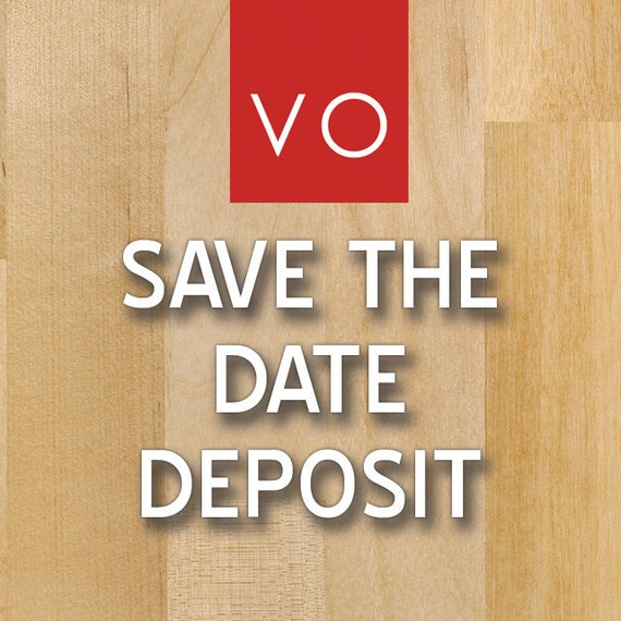 Save the Date Card Deposit