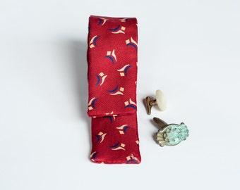 Vintage Silk Red Bow Tie