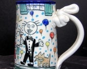 Wally goes to a party and realizes that he is the only one who isn't on anti-depressants and it makes him sad. mug 12 oz.