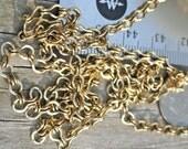 3 feet   Antiqued Brass Ladder Chain