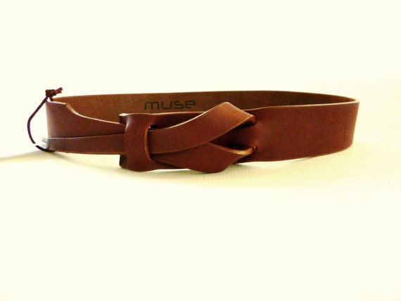 Camel Leather MUSE Belt 1 1/4 inch Free Shipping