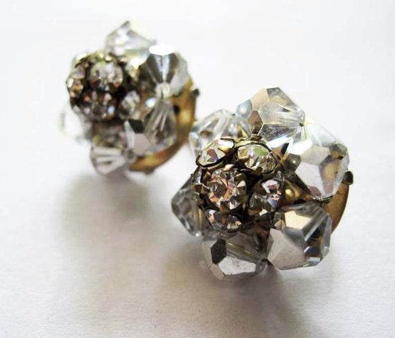 Vintage Crystal Rhinestone Earrings
