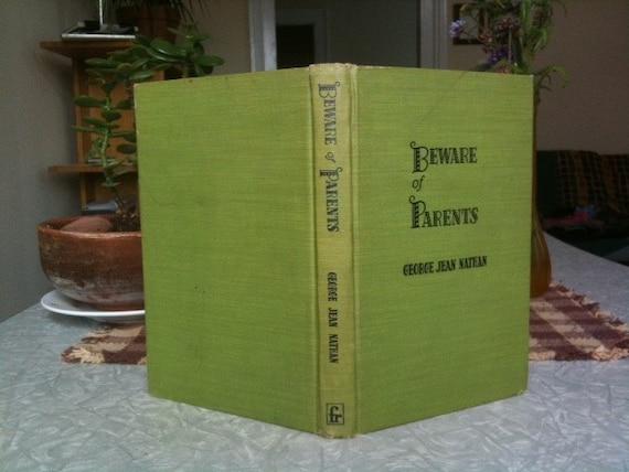 Blank Vintage Handbound Book - Beware of Parents