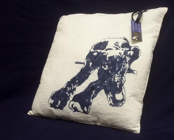 Watchful greyhound cushion cover - HALF PRICE