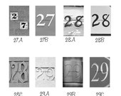 Anniversary , Couples gift , Save the Date / Number Photo - Custom Wedding Gift - 4x6 Number Choices 27 28 and 29