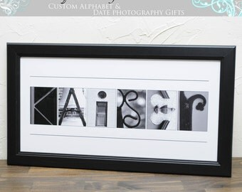 Christmas Gift , Personalized Name Photo , Alphabet Art Photography , 10x20 UNFRAMED, Alphabet Letter Photos