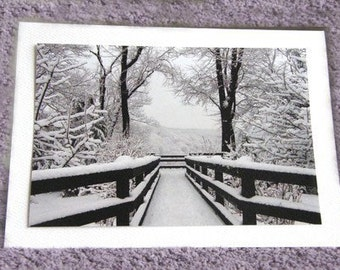 Photo Note Card - Snowfall Symmetry