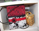 Passport case or gadget case  with neck strap or small sling purse SALE