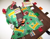 SALE Taggie football & Blanket in Green,gold and brown