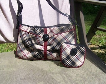 Small Hobo Handbag with Change Purse Pdf Pattern and Tutorial with instant Download