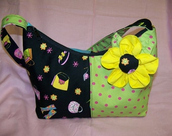Purse Large and Small Pattern with change purse flower pin credit card pockets,cell pocket pdf pattern SALE instant download e-file