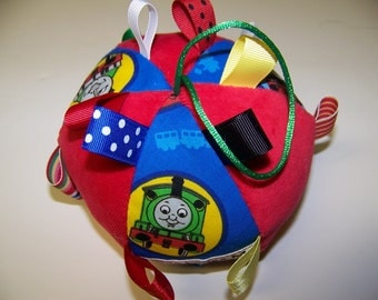 "pdf Pattern Taggie Ball toy for Baby 5"" Dia. Infant Toy with Immediate Download e-file"