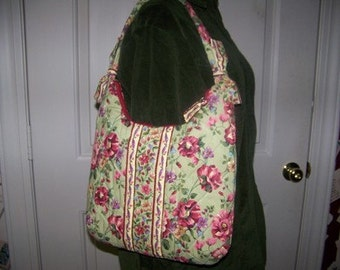 Olivia's Flower Garden Handbag Pdf Pattern and Tutorial Immediate download e-file