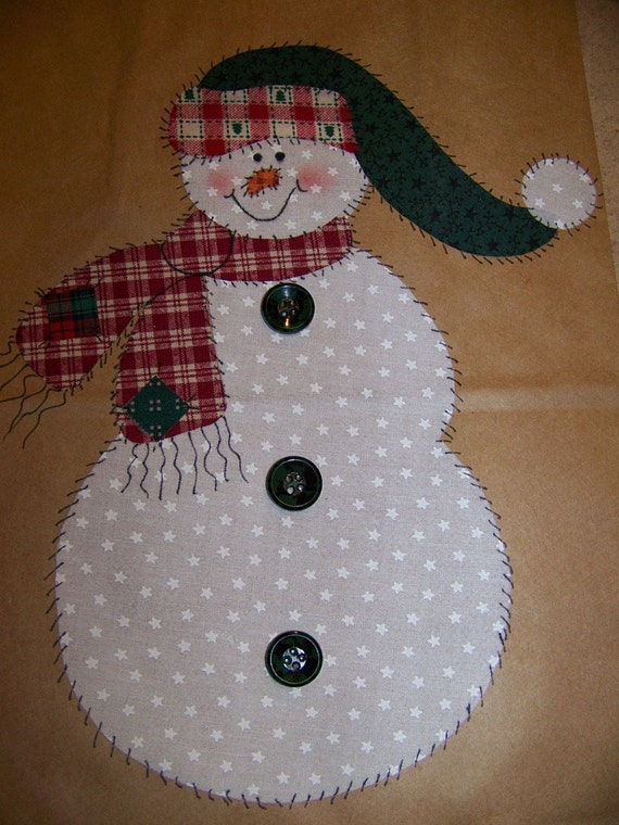 SALE Applique patterns Snowman Angel and Christmas Tree pdf