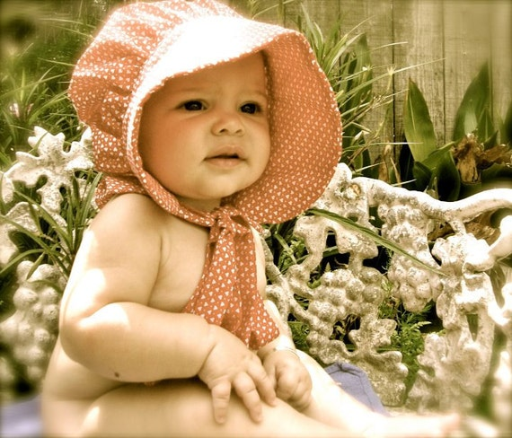 Baby Prairie Bonnet pdf pattern and tutorial  sizes 1 to 3 years