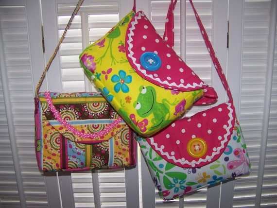 Little Girl Purse Pattern pdf and Tutorial easy sewing pattern
